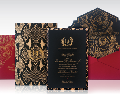 Fashion Week Inspired Wedding Invitation