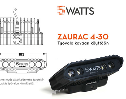 Exhibition brochure for 5 Watts