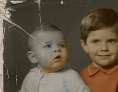 Restoration and colorization of a damaged photo