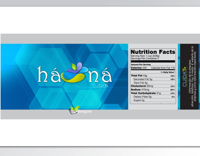 Hanna Water Label Design