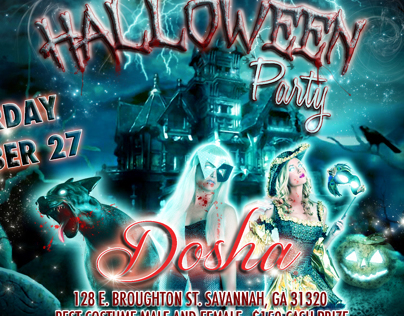 Dosha Bar Halloween Poster & Flyer