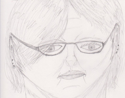 First Attempt at a Self-Portrait for introduction