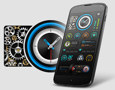 Electric Tourbillon Home Screen UI