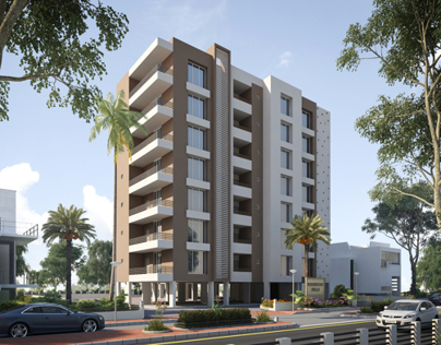 Exterior Appartment project at morbi ( Gujarat )
