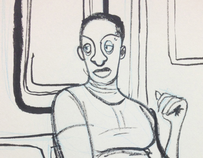 Drawings of Train People