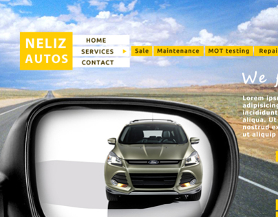 Car company home page design