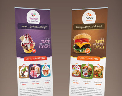 Bestaste Food Billboard & Roll Up Banner
