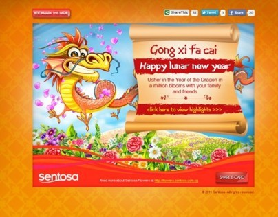 Sentosa Christmas and CNY e-cards 2011