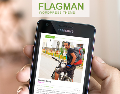 Flagman - Retina Responsive News WordPress Them
