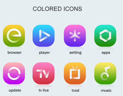 colored icons