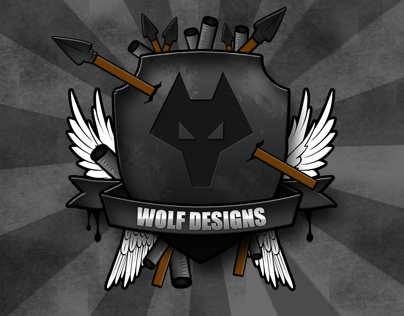 Wolf Shield/Badge Emblem