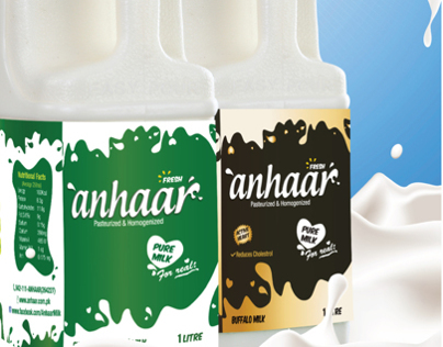Anhaar Milk Packaging - all three variants
