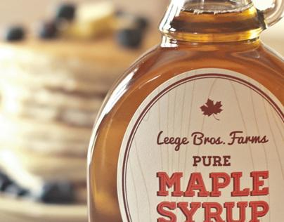 Leege Farms Maple Syrup