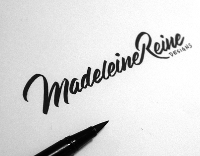 Madeleine Reine Designs - Brush Pen Sketch