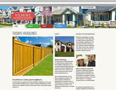 Website Community News Template Design