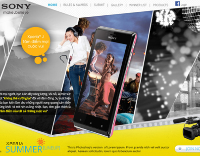 [ Website Design ] Sony Xperia SUMMER LINE-UP
