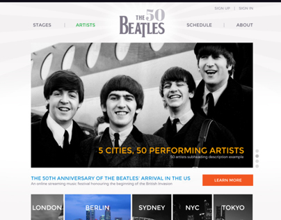 Beatles 50th Anniversary Site