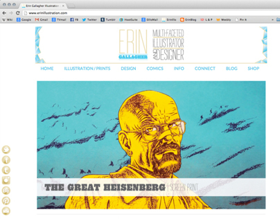New Website | Erin Gallagher Illustration and Design