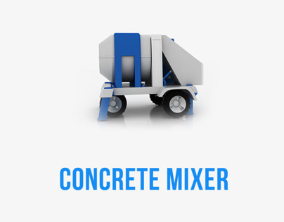Design of concrete mixer