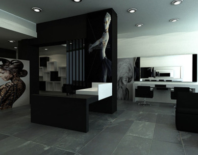 Hair salon_black & white