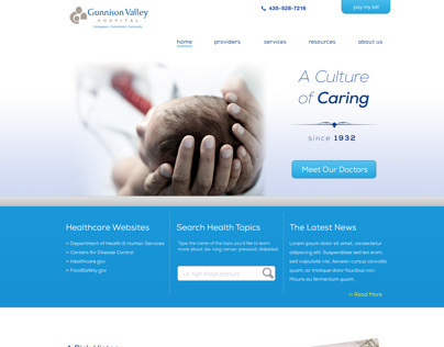 Hospital Website Redesign