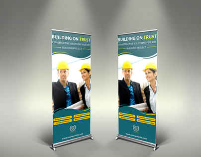Construction Business Signage Rollup Template