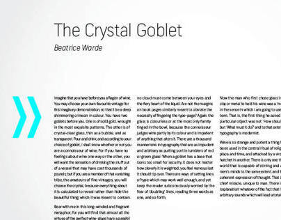 ARROW Magazine: The Crystal Goblet