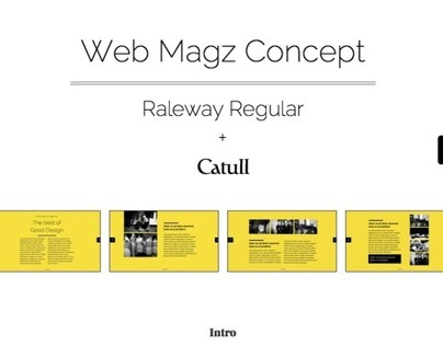 Web Magazine Design Concept