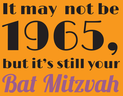 Wendies Bat Mitzvah