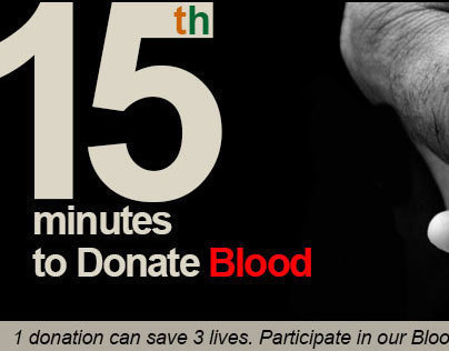 Ads for Blood Drive in india