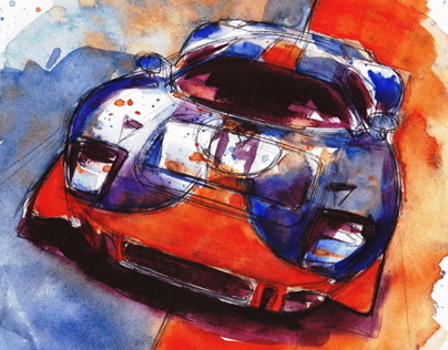 Automotive Watercolors