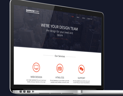 NarrowPoint - Web design and logo