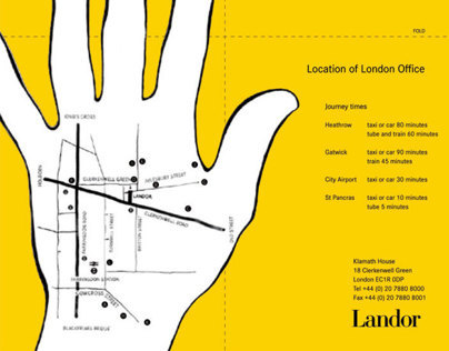 Landor London office map