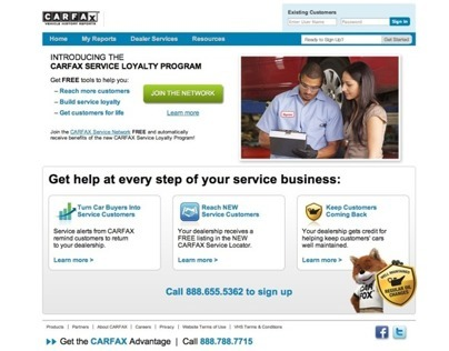 CARFAX online Service Loyalty Program - UX | UI Design