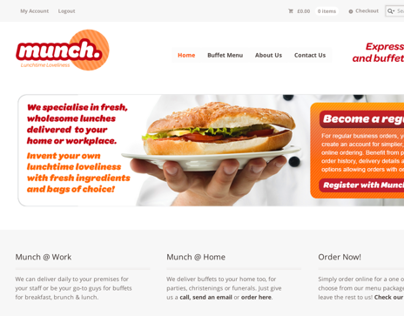 Lunch By Munch e-commerce website