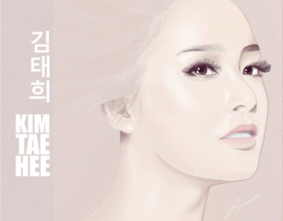 Vector Artwork Kim Tae Hee (김태희)