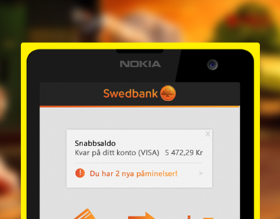 Swedbank Windows Phone App Concept