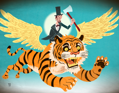 Lincoln on a Flying Tiger Animation