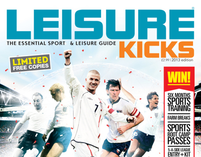Leisure Kicks Magazine Cover + Illustrations 2013