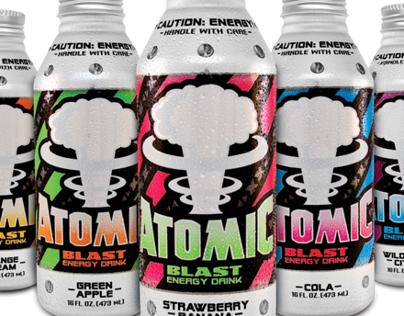 Atomic Blast® Energy Drinks Branding and Packaging