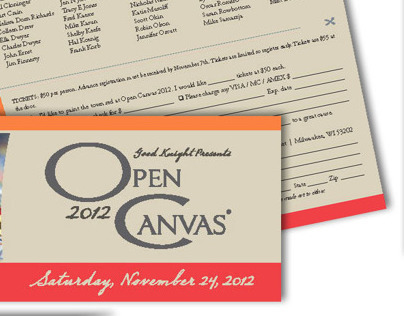 Open Canvas event brochure