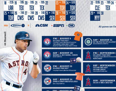 Houston Astros Magazine ADS