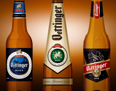 Ottinger Beer Label & Bottle Design