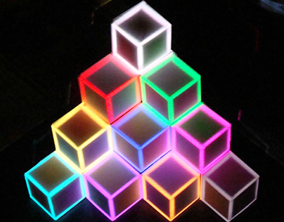 Experiments in Projection Mapping: Cube Stack