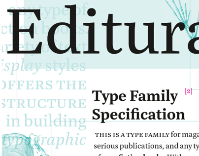Editura – a type family for serious publications