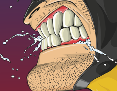 Wolverine vs Sabertooth - vector study