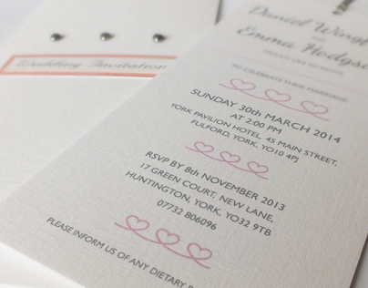 Emma & Dans Wedding Invitations