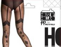 Pretty Polly House of Holland pack shot photography