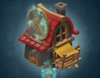 Asset design process - Shack