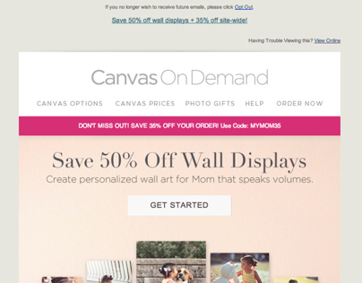 Canvas On Demand Mothers Day Promo Template